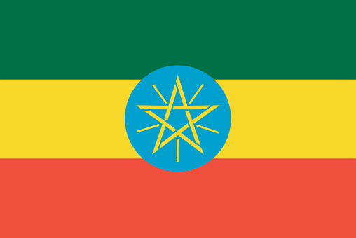 Etiopian lipun värit ovat ylpeyden symboli.